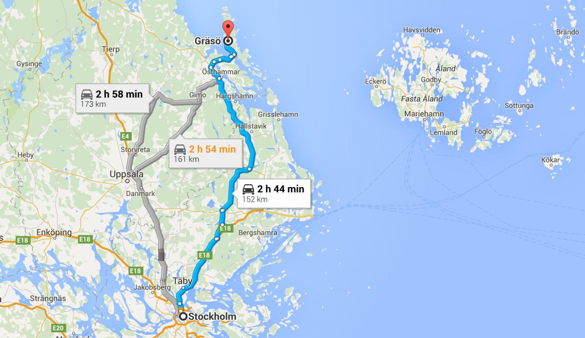 Vägen till Gräsö.