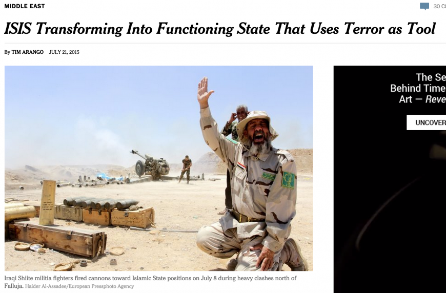 Skärmdump från new York Times.