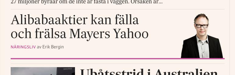 Rubben och länken till min analys på SvD.se.