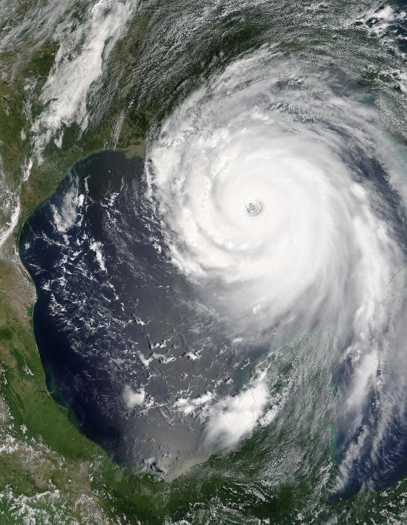 Satellitbild över orkanen Katrina från 28 augusti. 2005. Foto: Nasa/Flickr