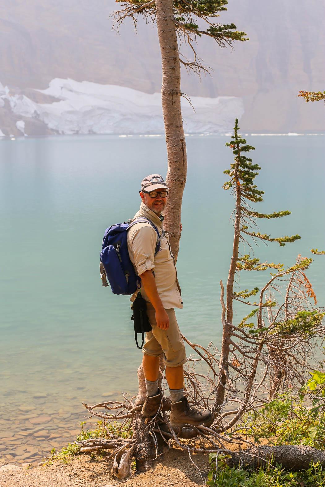 Erik vid Iceberg Lake, Montana.