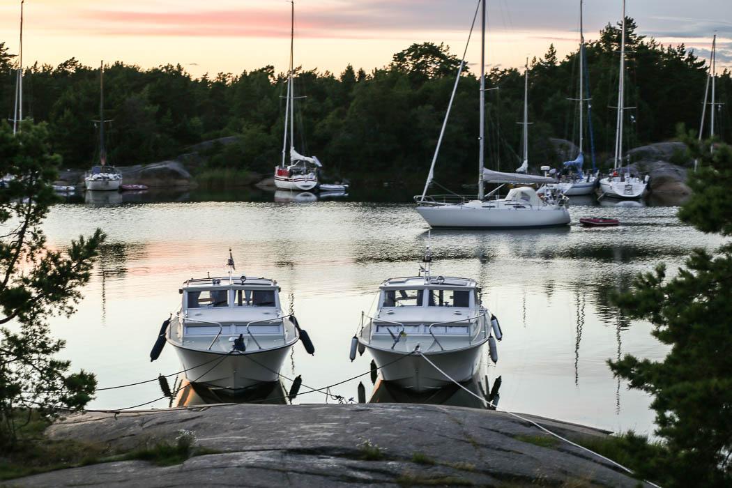 Två prima Coronet 26 vid Ostholmen. Min till höger.