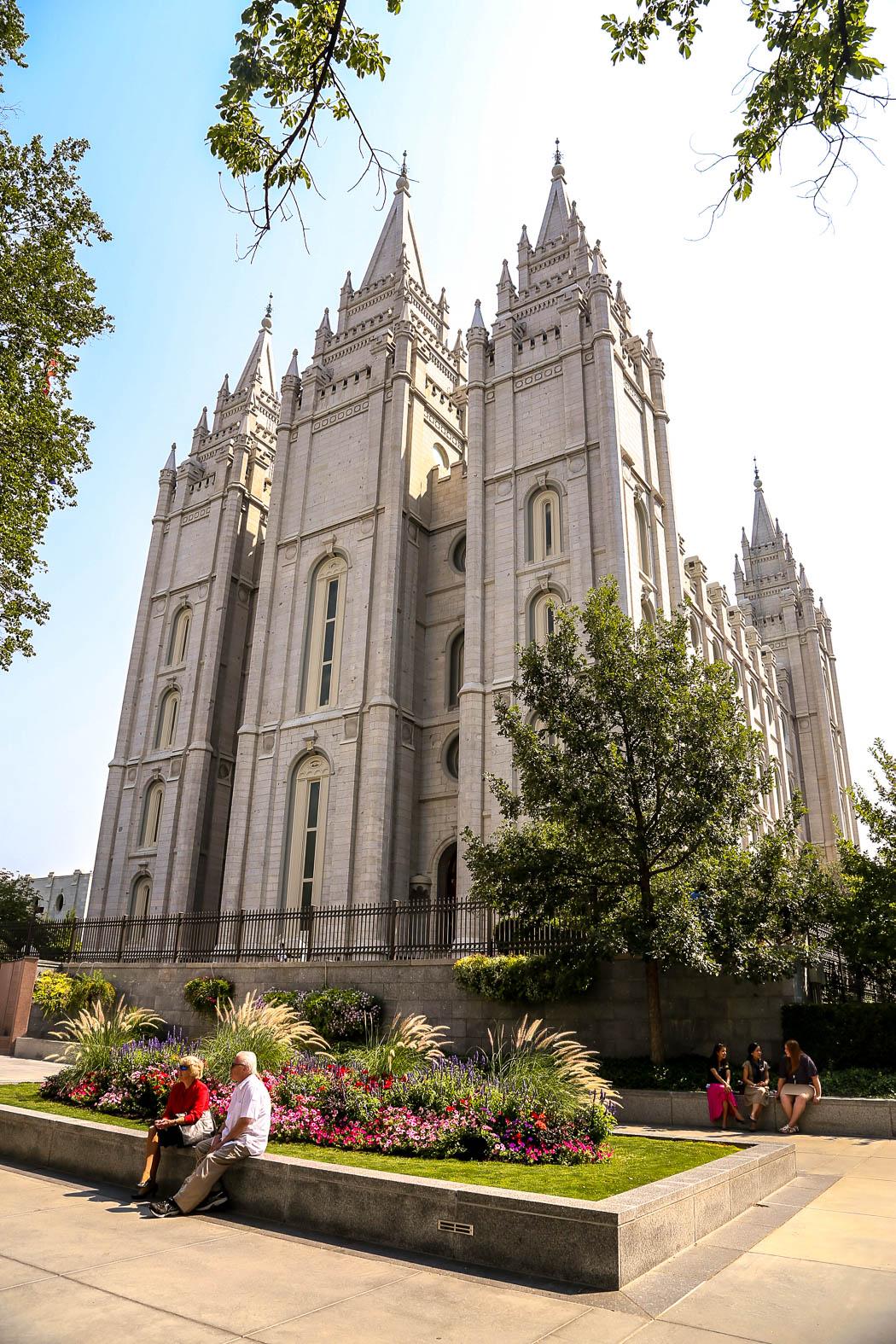 Mormonernas tempel och kyrkans högkvarter.