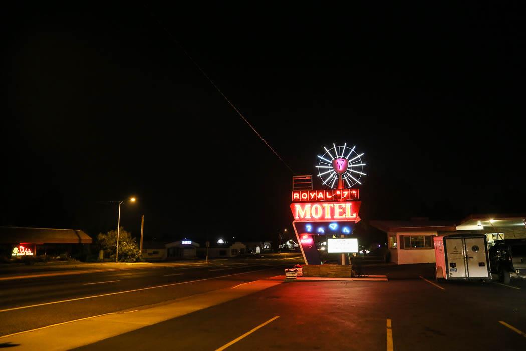 Motellet i Bozeman, Montana.