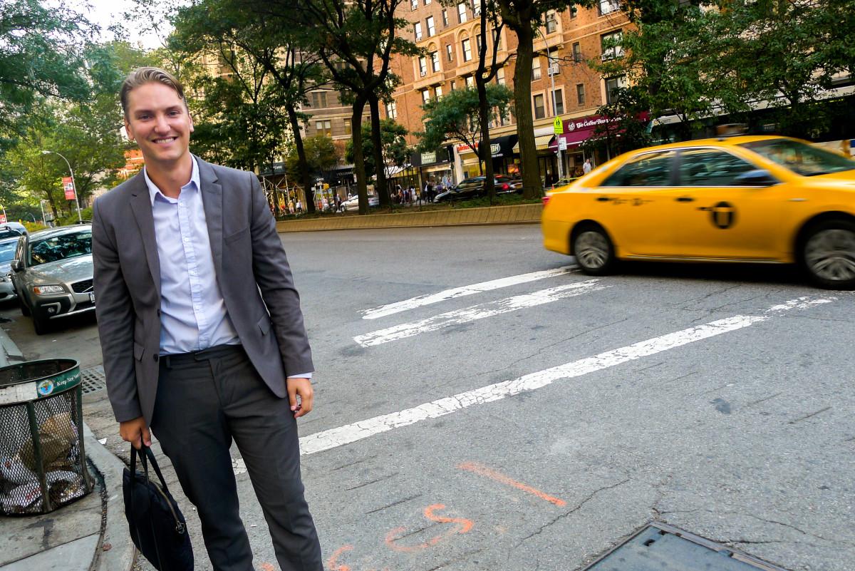 Johan Hägglund, vd för svenska Digiexam, i New York. Foto: Erik Bergin
