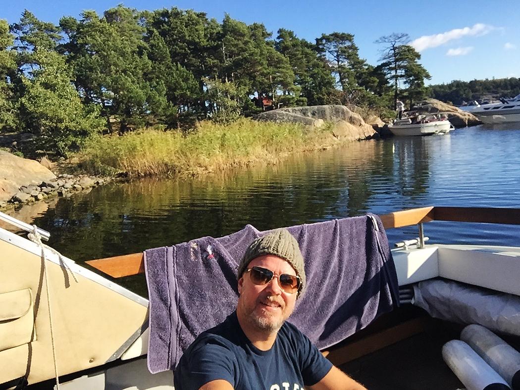 Söndag vid Ostholmen i oktober och rena sommarvärmen i solen.