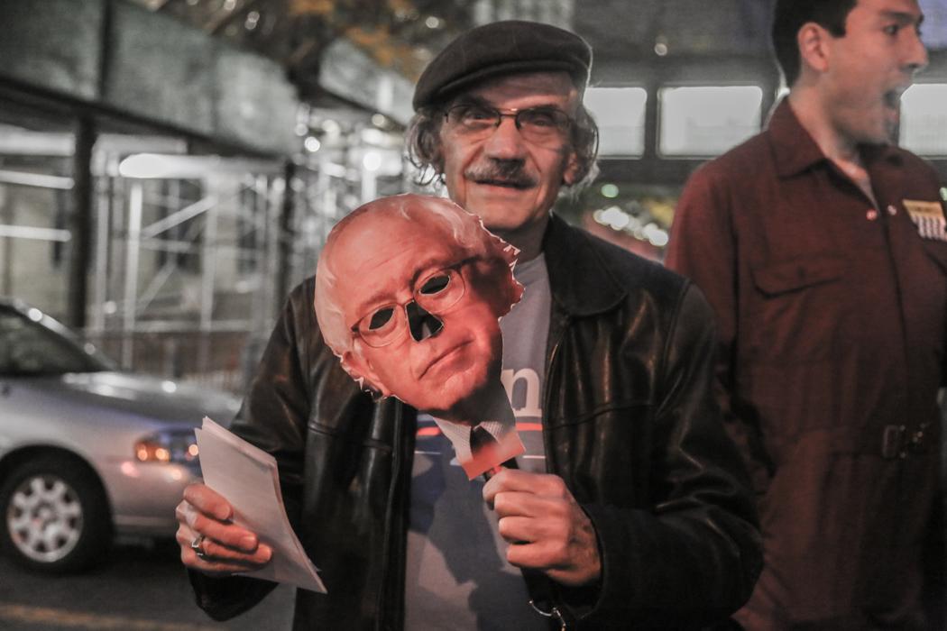 Murray Beaver, 78, stödjer Bernie Sanders.