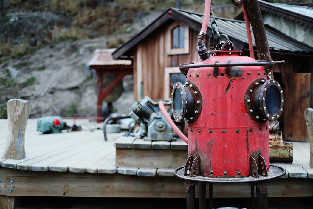 Detalj vid den fantastiska lekplatsen nära Danvikstull, Hammarby Sjöstad.