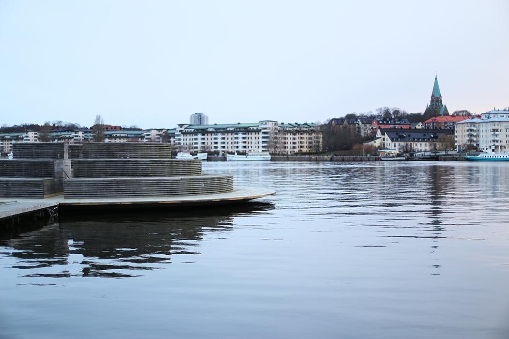 Hammarby Sjöstad i, 27 december 2015.