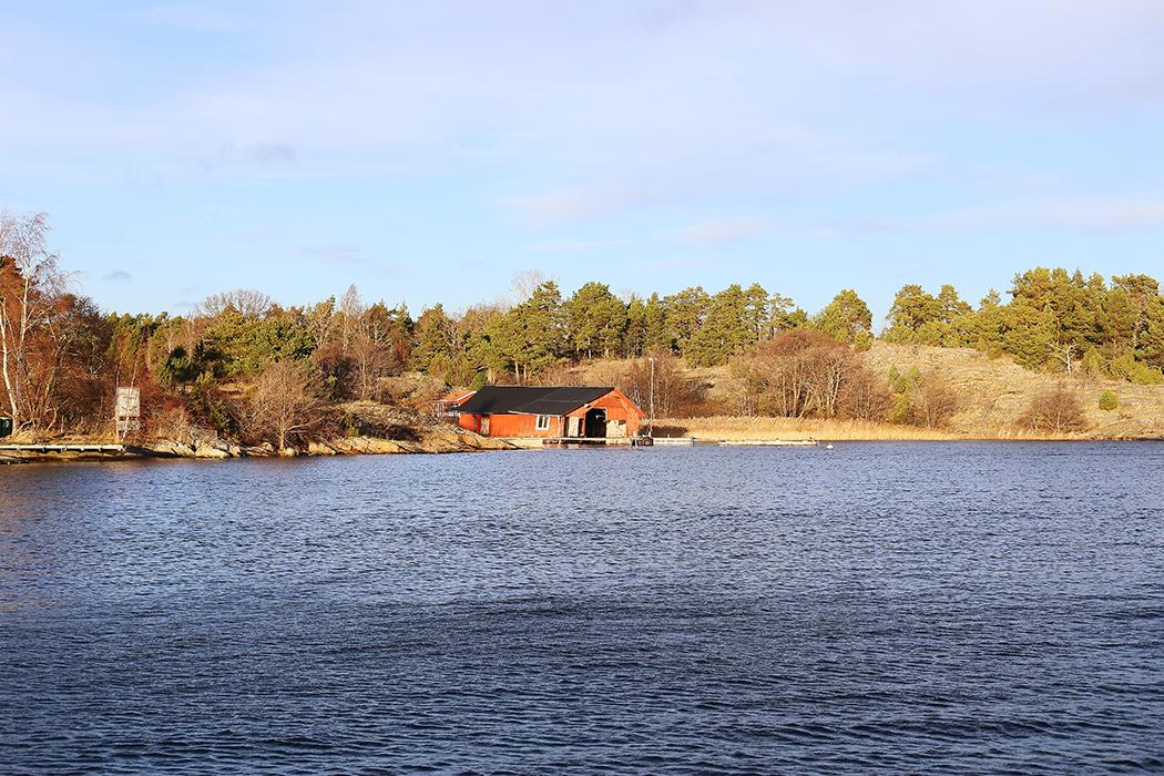 Tyrislöt, St Annas skärgård, Östergötland, på juldagen.