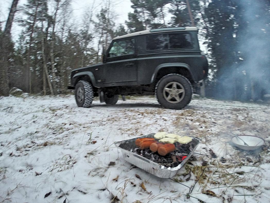 Årets första grillning.