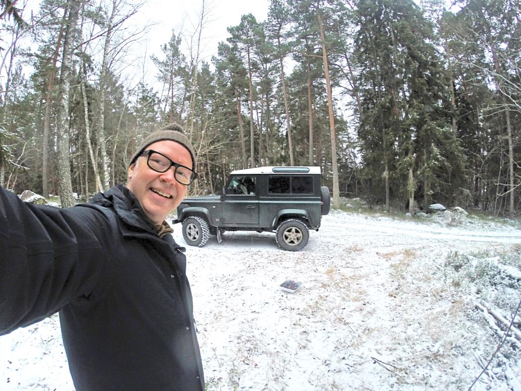 Årets första grillning, på Östra Lagnö den 2 januari