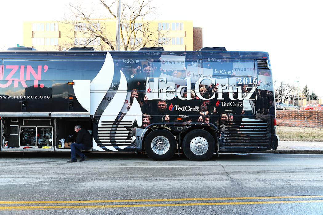 Ted Cruz kampanjbuss.