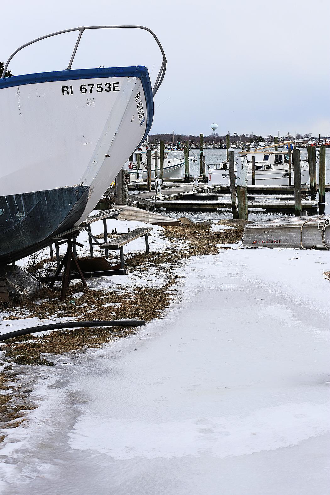 Småbåtsmarinan i Snug Harbor, Rhode Island. Foto: Erik Bergin