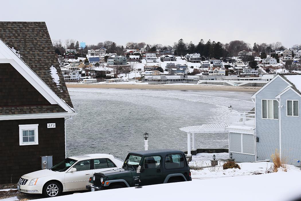 Kustvägen mellan Narragansett och Snugharbor, Rhode Island. Foto: Erik Bergin