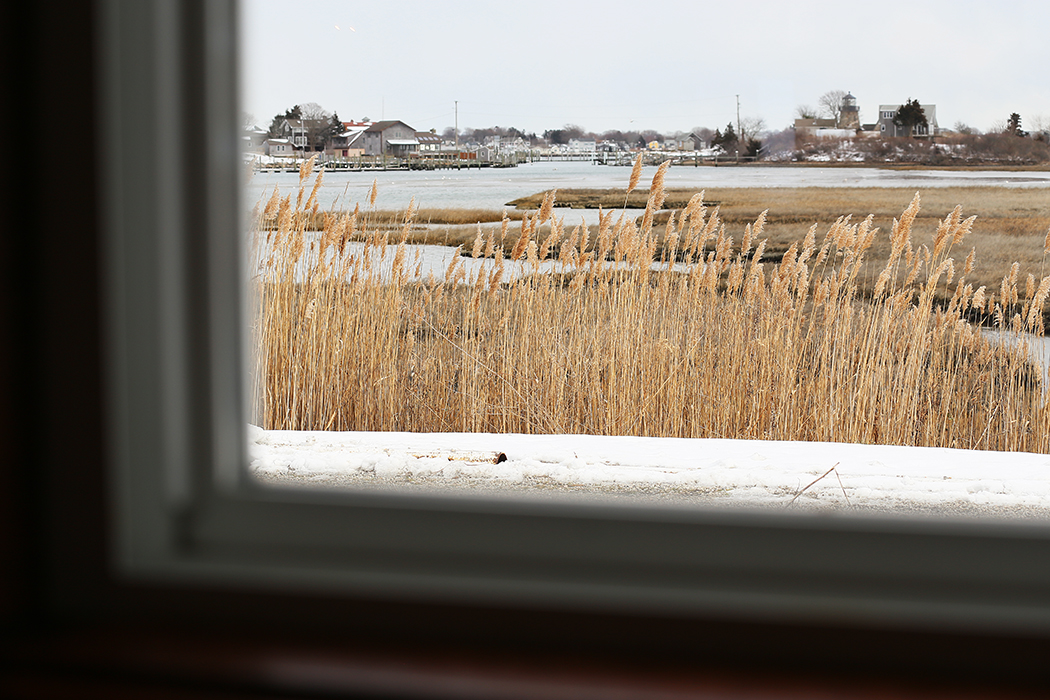 Fika i det öppna caféet i Snug Harbor, Rhode Island. Foto: Erik Bergin
