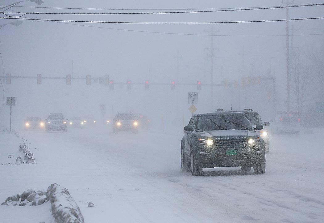 Snöoväder i New Hampshire. Foto: Erik Bergin