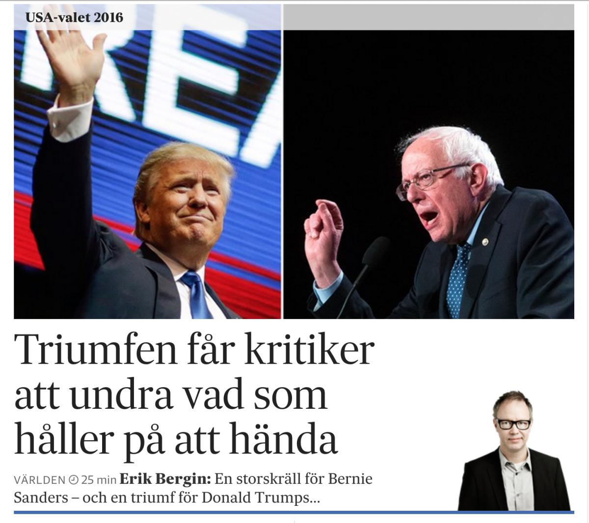 Min onsdagsmorgontopp på SvD.se.