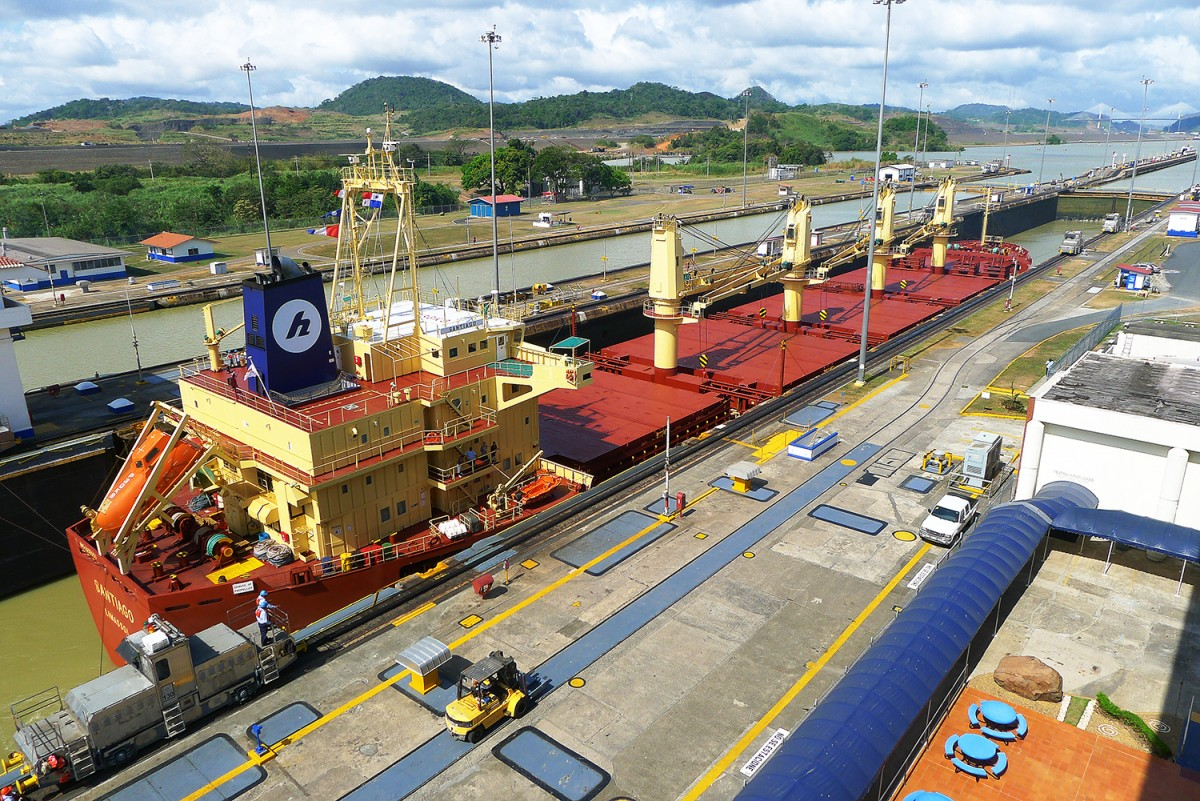 Mirafloresslussarna, Panamakanalen. Foto: Erik Bergin
