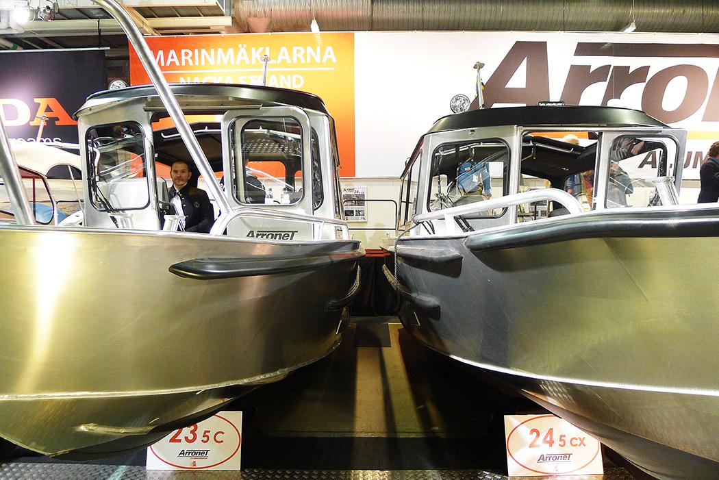 Två Arronet-båtar i aluminium. Foto: Erik Bergin