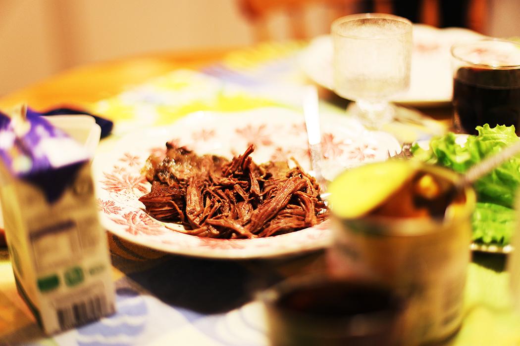 Pulled beef-tacos. Foto: Erik Bergin