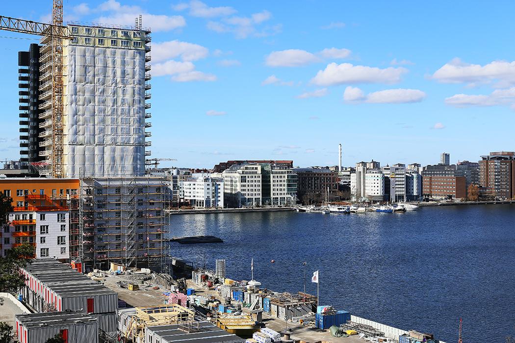 Isen är väck i Liljeholmen. Foto: Erik Bergin