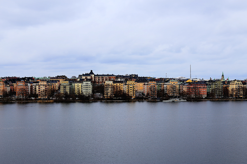 Kungsholmen från Västerbron strax före mars. Foto: Erik Bergin