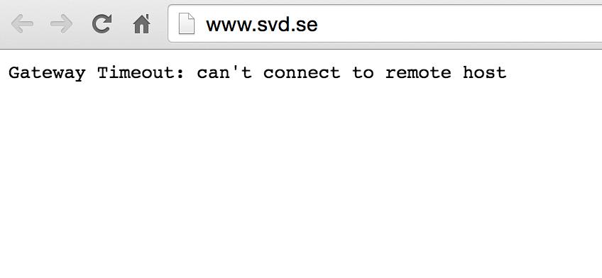 SvD:s och Aftonbladets sajter låg nere på lördagen.