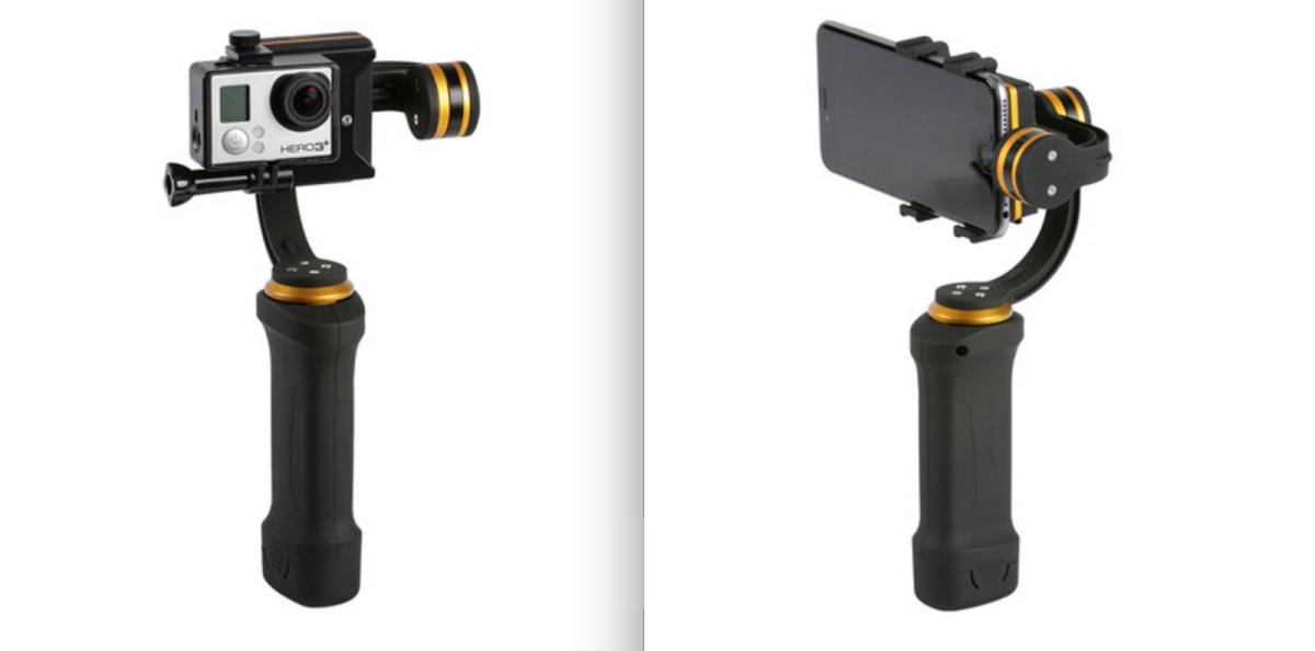 Ikan Fly-X3 Plus med två olika kamerafästen, för mobil och GoPro-kamera. Foto: Ikan
