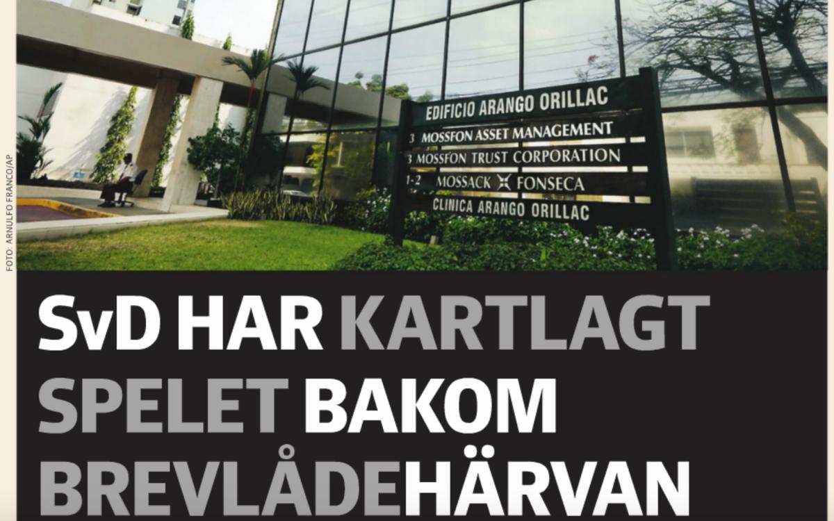 Utsnitt av SvD Näringslivs förstasida 9 april 2016.