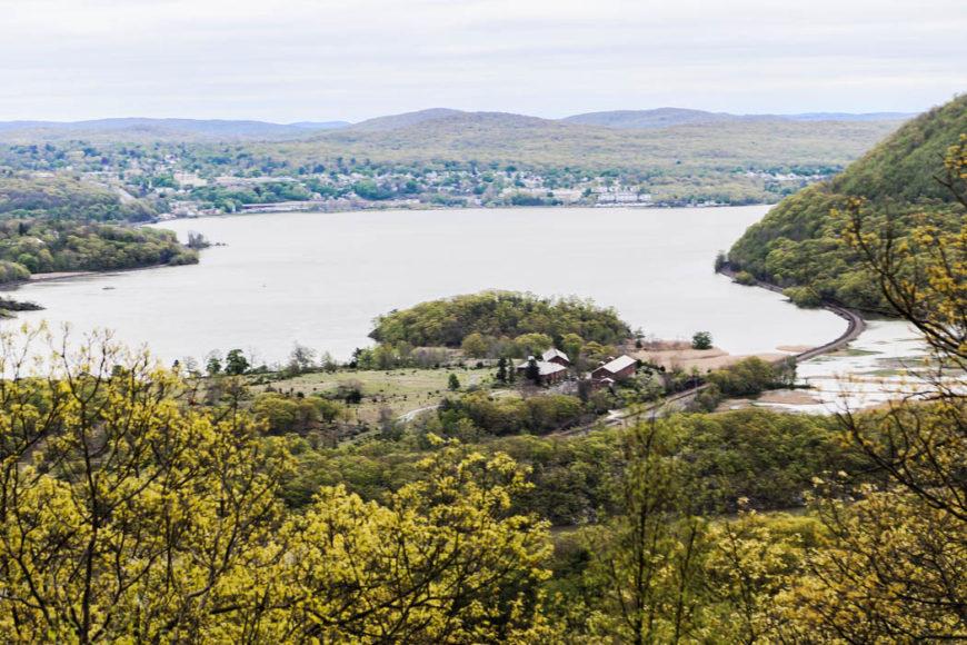Utsikt från berget över Hudson River. Foto: Erik Bergin