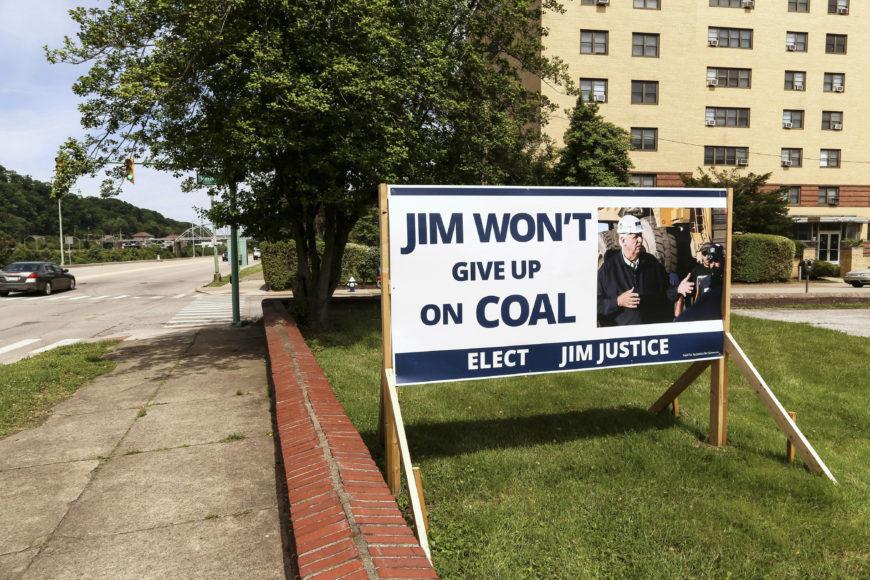 Demokraten Jim Justice ställer upp i guvernörsvalet i West Virginia. Foto: Erik Bergin