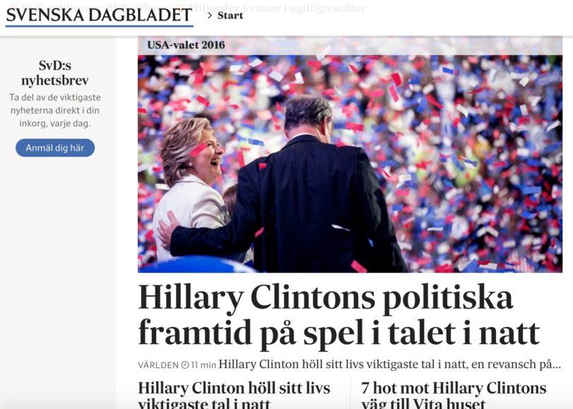 Referatet av Clintons tal natten till fredag.