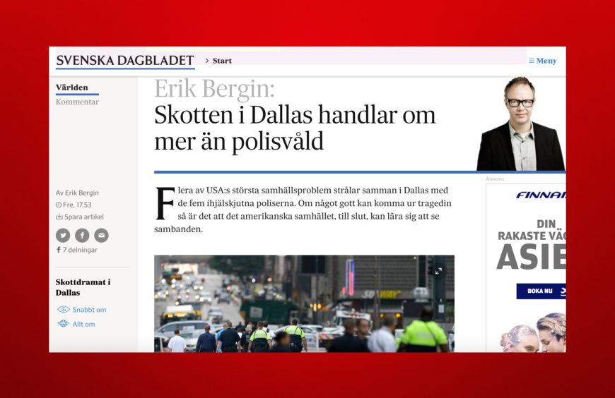 Min krönika på SvD.se fredagen den 8 juli 2016.