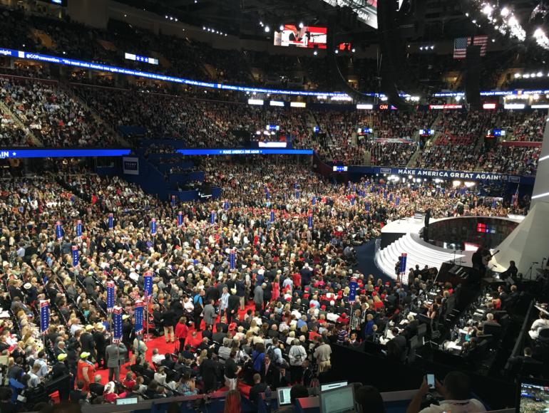 Konventet i Quicken Loans Arena, Cleveland. Foto: Erik Bergin