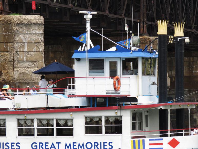Turistbåt på tur. Foto: Erik Bergin