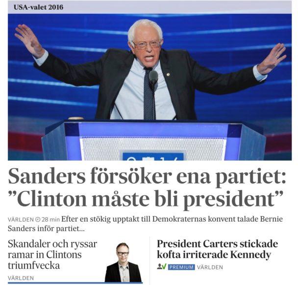 Min artikel och analys inför nomineringen av Clinton på SvD.se.