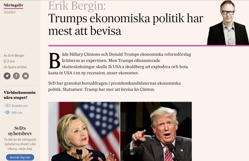 Artikeln på SvD Näringsliv.