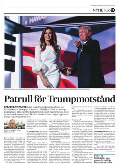 Sida i onsdagstidningen.