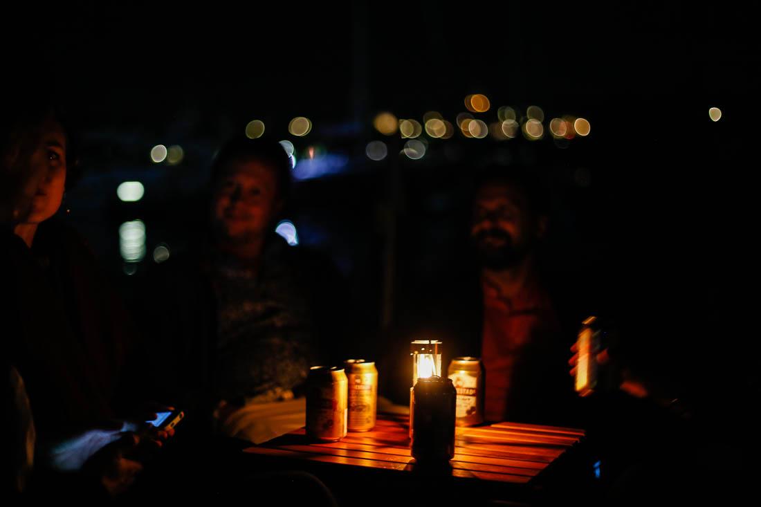 Efterfest på akterdäck. Foto: Erik Bergin