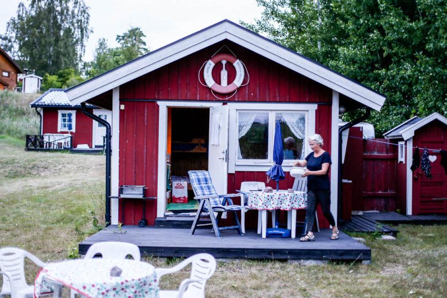 Stugan på Norra Stavsudda. Foto: Erik Bergin