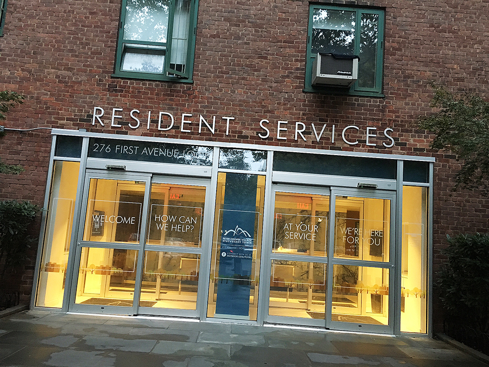 Stuyvesant Resident Services där man lämnar nycklarna vid utflyttning.