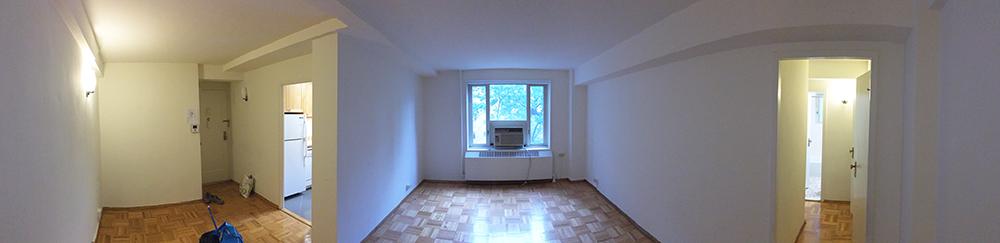 Panorama från vardagsrummet.
