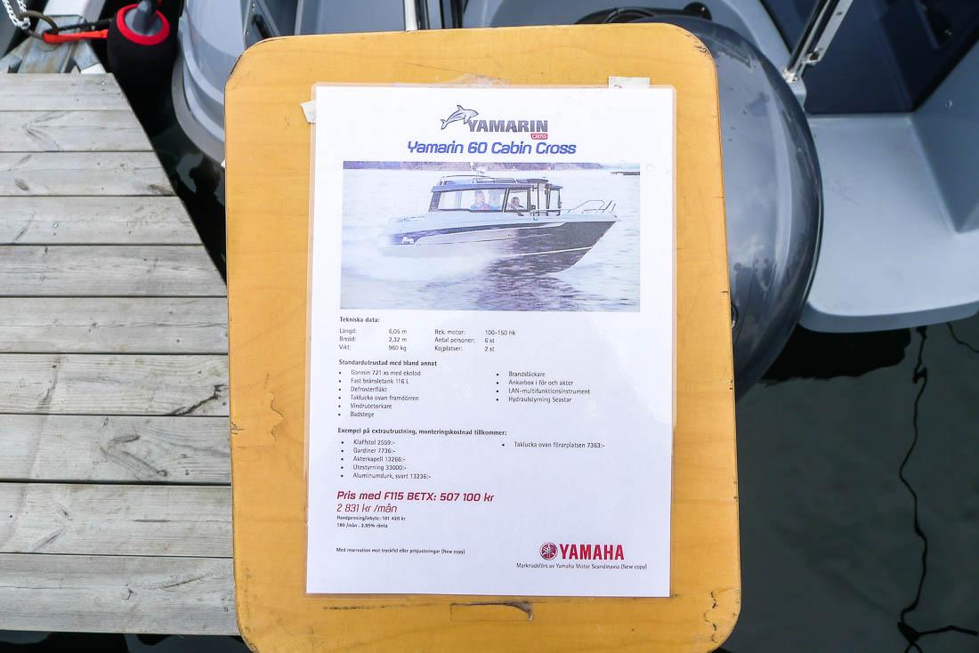 Fakta om båten.
