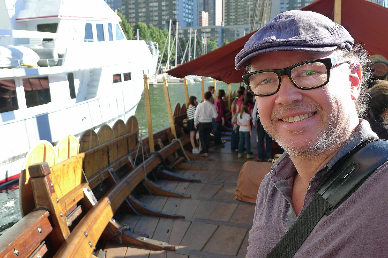Jag ombord på Draken Harald Hårfagre.