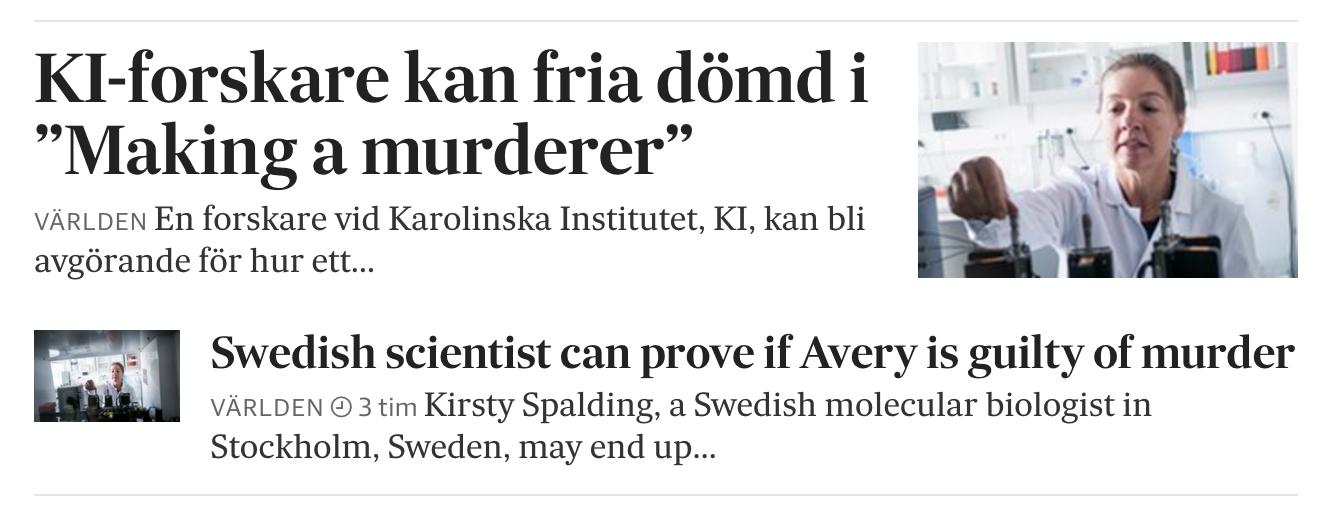 Min Avery-story på SvD.se tisdag 11 oktober 2016.