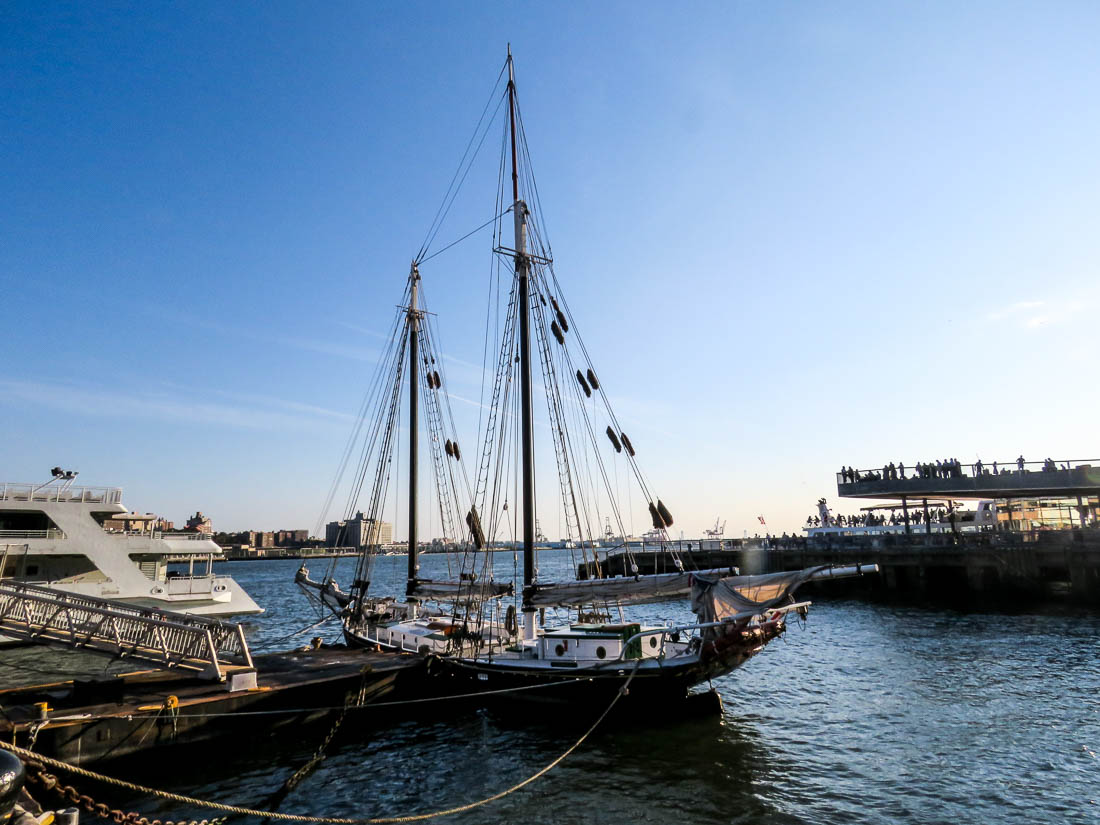 Ett av de gamla segelfartygen.