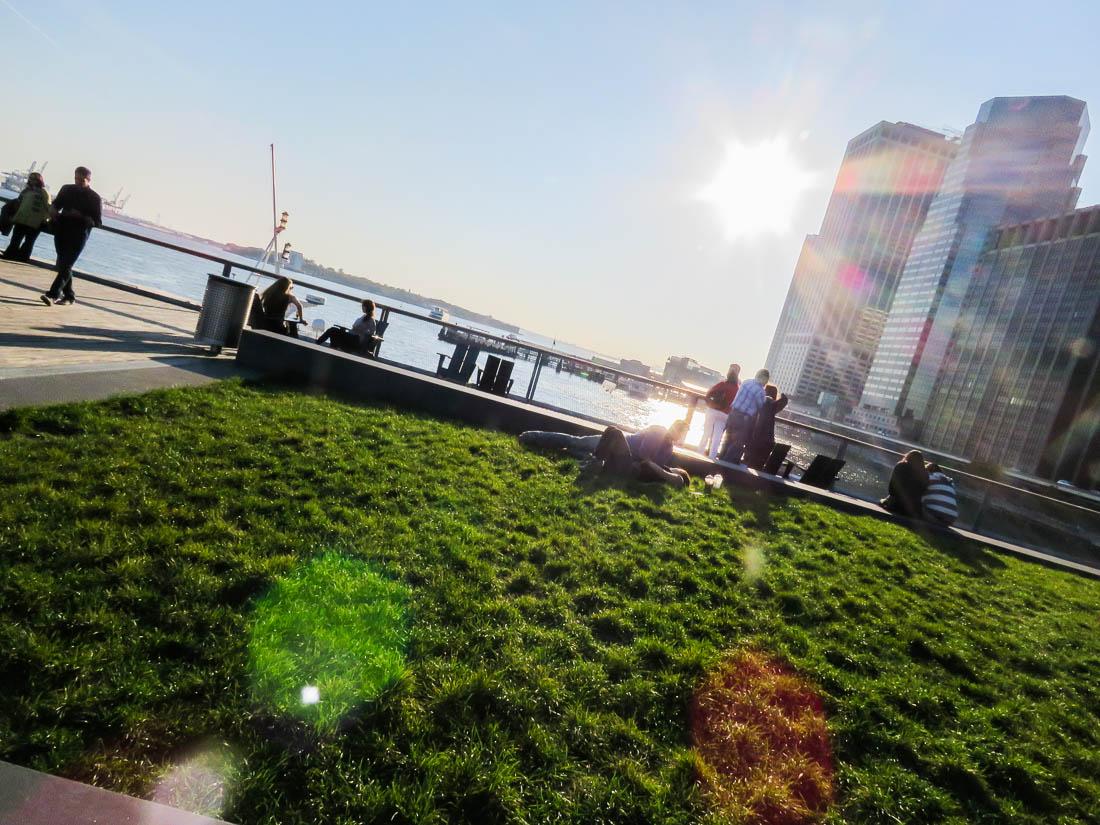 Takparken vid Pier 15.